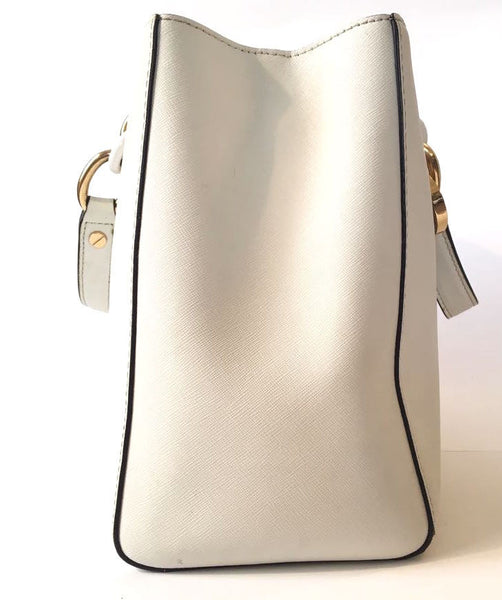 Michael Kors White Leather 'Cynthia' Bag | Pre Loved |