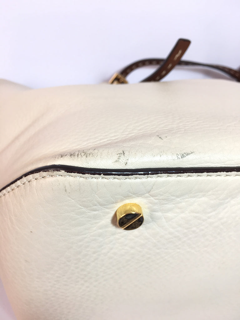 Michael Kors White Pebbled Leather Tote | Gently Used |