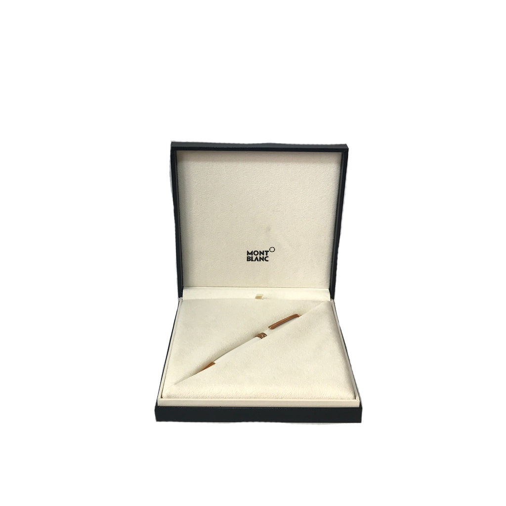 MONTBLANC Limited Edition 'Meisterstuck' White Solitaire Rose Gold Classique Ballpoint Pen | Brand New |