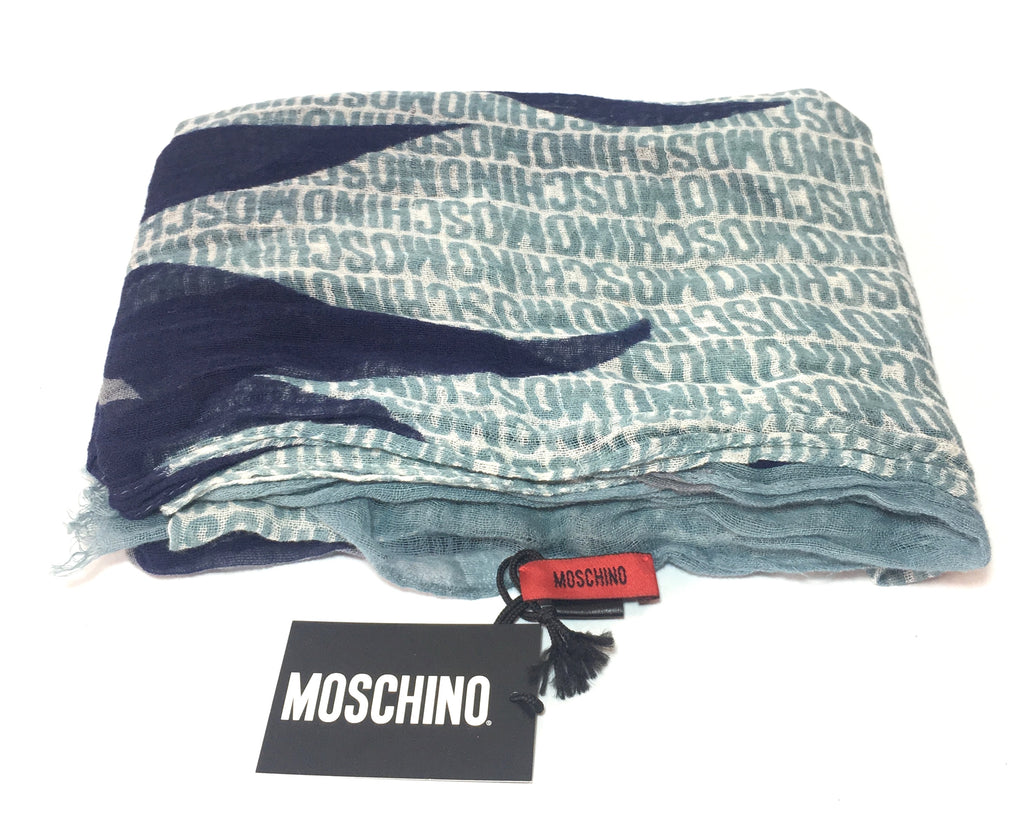 Moschino Printed Cotton Scarf | Brand New |