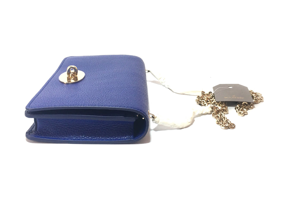 fc519f1e0a Mulberry Bayswater Cobalt Blue Leather Wallet On Chain Clutch ...
