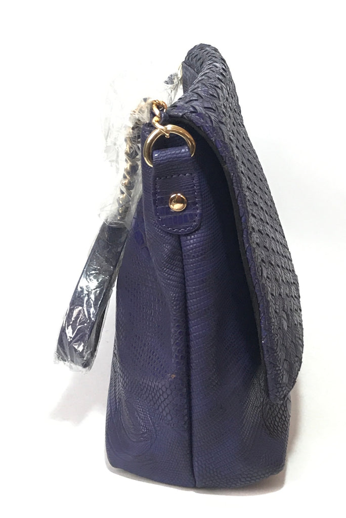 Neiman Marcus Violet Woven Shoulder Bag  | Brand New |