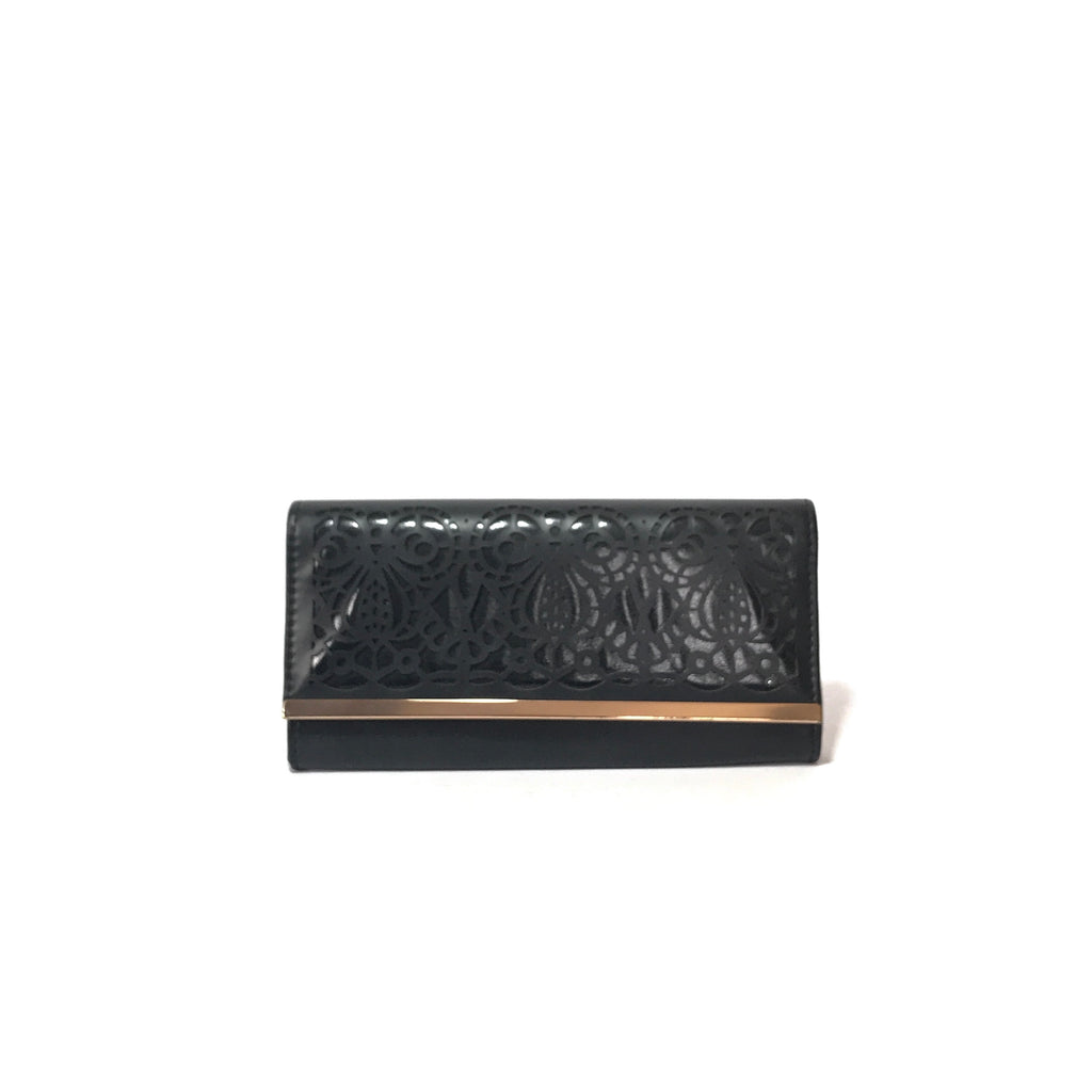New Look Black Laser Cut Clutch | Gently Used |