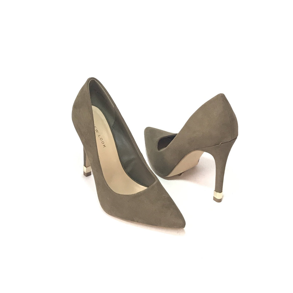 New Look Grey Suede Pumps | Like New |