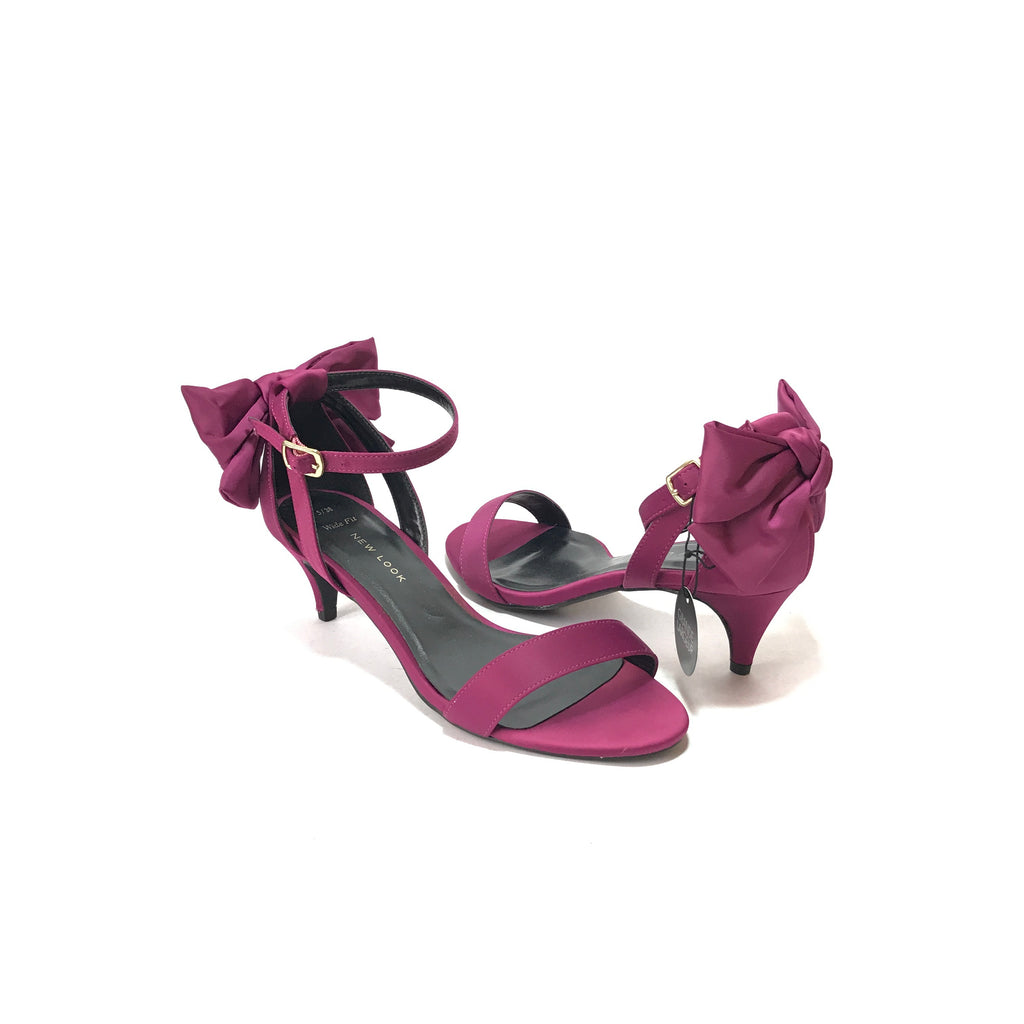 New Look Purple Bow Kitten Heels  | Brand New |