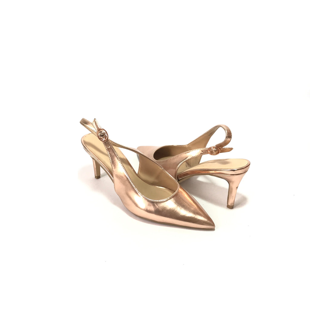 New Look Rose Gold Pointed Heels  | Pre Loved |