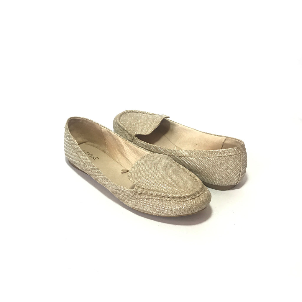 Next Silver Glitter Loafers | Like New |