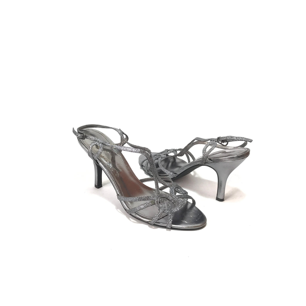 Nina Gunmetal Grey Strappy Heels | Gently Used |