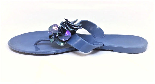 Nine West Light Blue Jelly Thong Sandals | Gently Used |