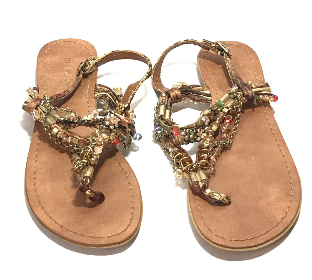 606239c1493b Nine West Chain Strap Thong Sandals