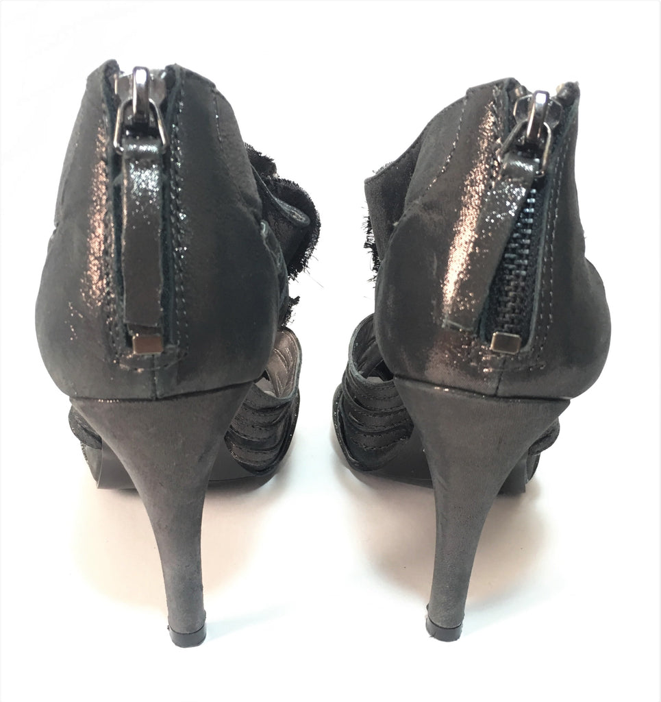 Nine West Metallic Grey Rockstone Heels | Gently Used |