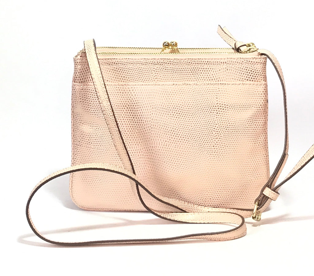 Nine West Metallic Pink Cross Body Bag | Gently Used |