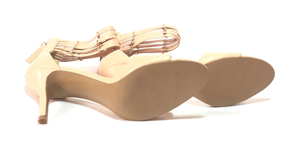 Nine West Nude Leather D'ORSAY Heels | Gently Used |