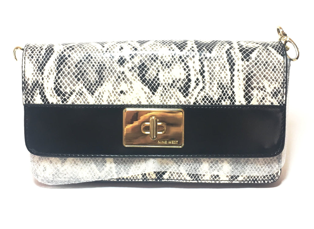 Nine West Pop Diva Snakeskin Clutch | Like New |