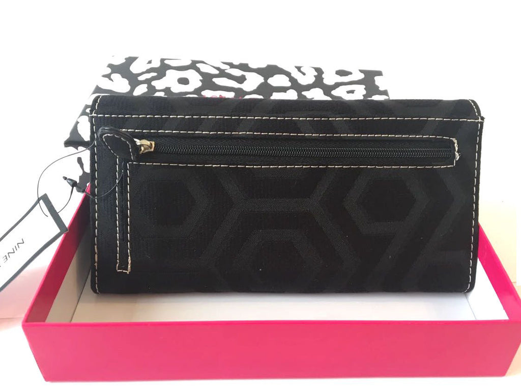 Nine West Black 'Hexagram' Wallet | Brand New |