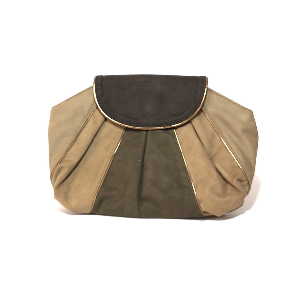 Nine West Brown Suede Clutch | Like New |