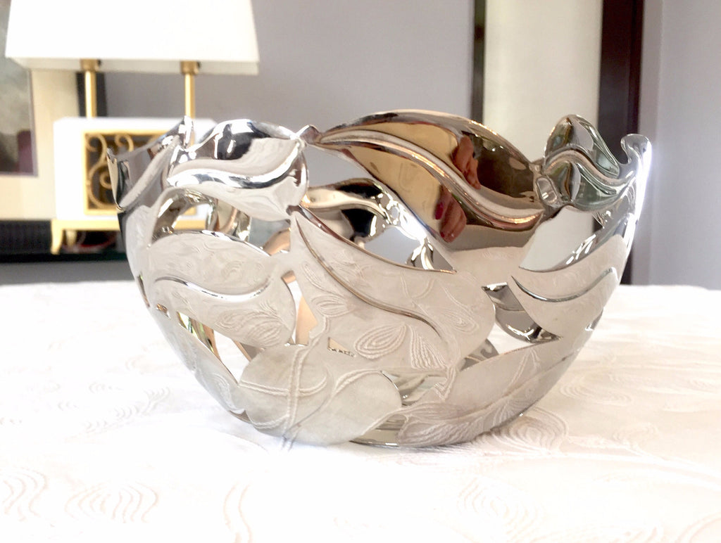 Pierced Leaf Bowl - Nickel Plated *NEW* - Secret Stash