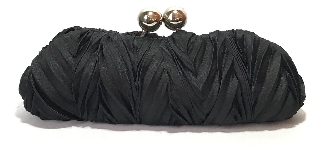 Pierre Cardin Black Knot Satin Clutch | Gently Used |
