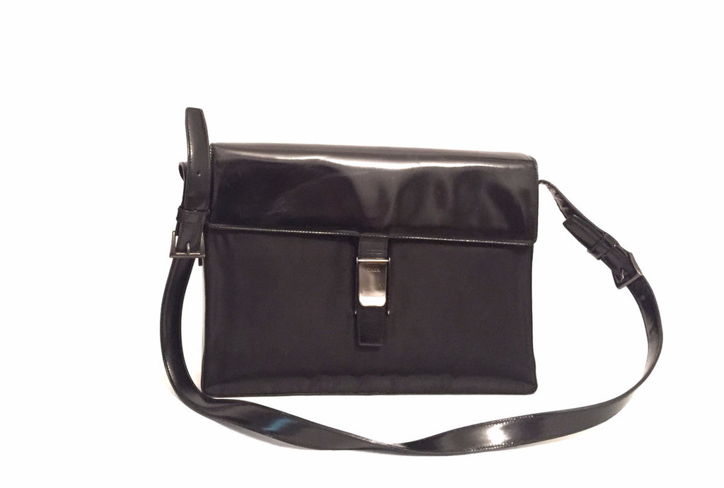 Prada Nylon & Leather Black Vintage Bag | Pre Loved | - Secret Stash
