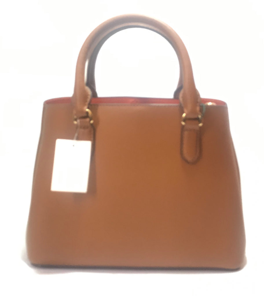 Ralph Lauren Tan Leather 'Dryen Marcy' Tote  | Brand New |