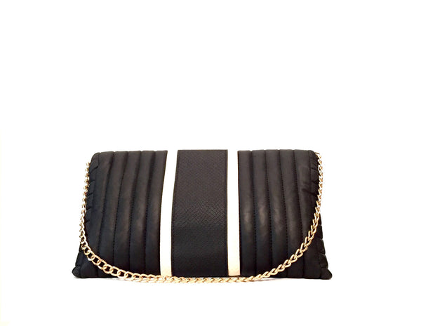 River Island Black & White Bag | Gently Used | - Secret Stash