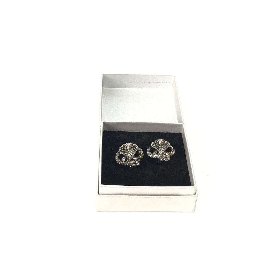 Roberto Cavalli Vodka Men's Silver Snake Cufflinks | Like New |
