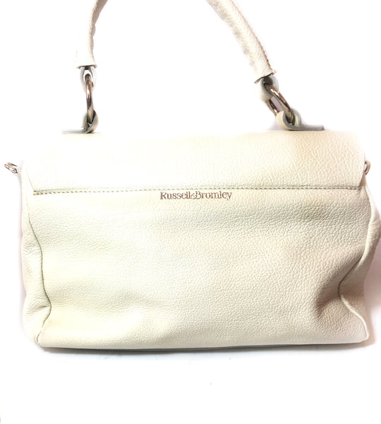 Russel & Bromley White Leather Tote | Like New |
