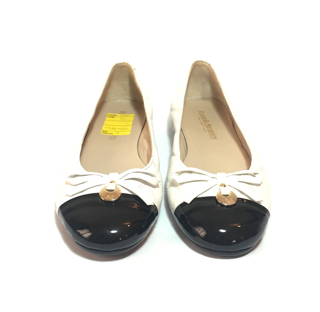 Russel & Bromley CHARMING Quilted Ballet Flats | Like New |