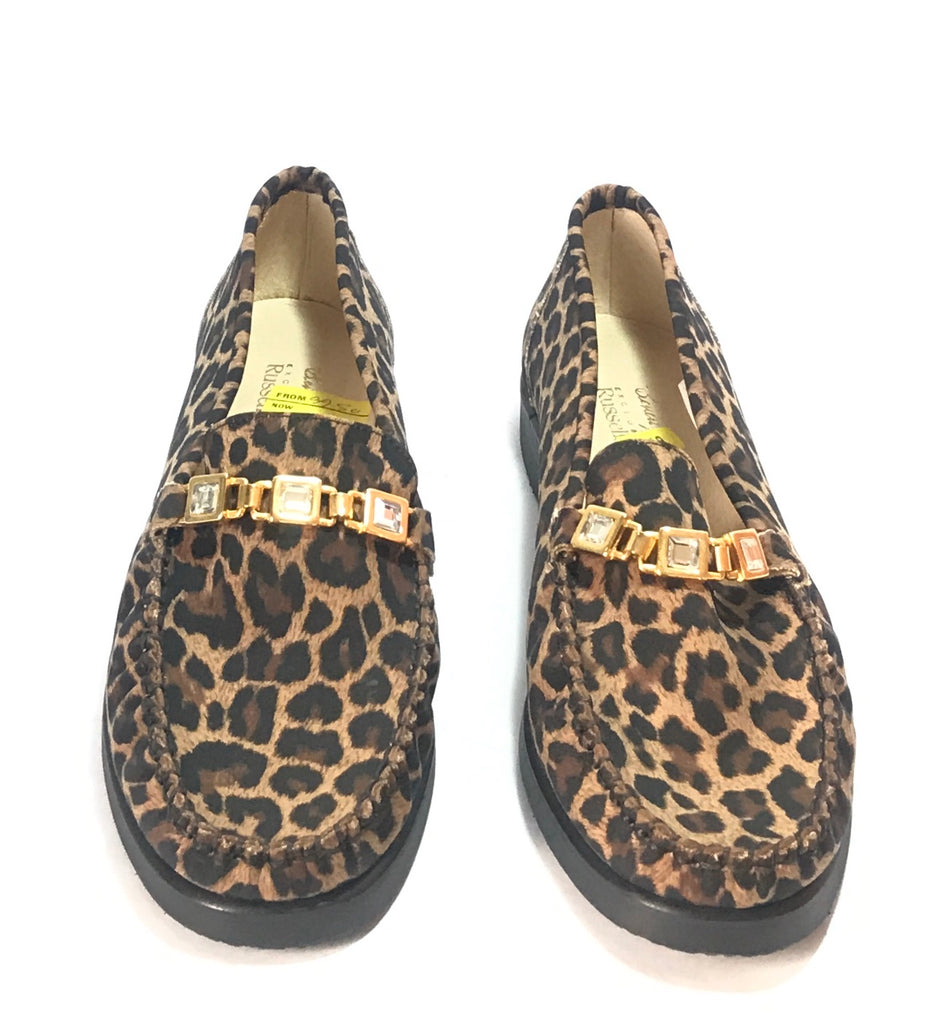 Beverly Feldman for Russel & Bromley Cheetah Print Loafers | Like New |