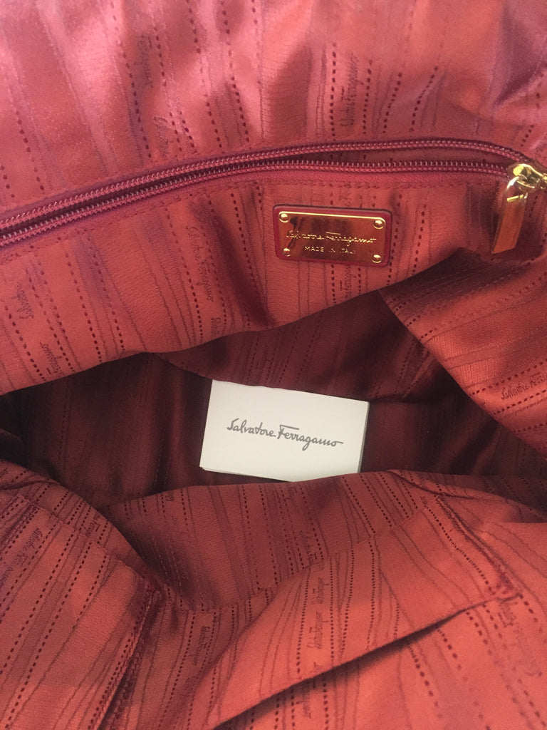 Salvatore Ferragamo Maroon Leather Tote | Gently Used | - Secret Stash