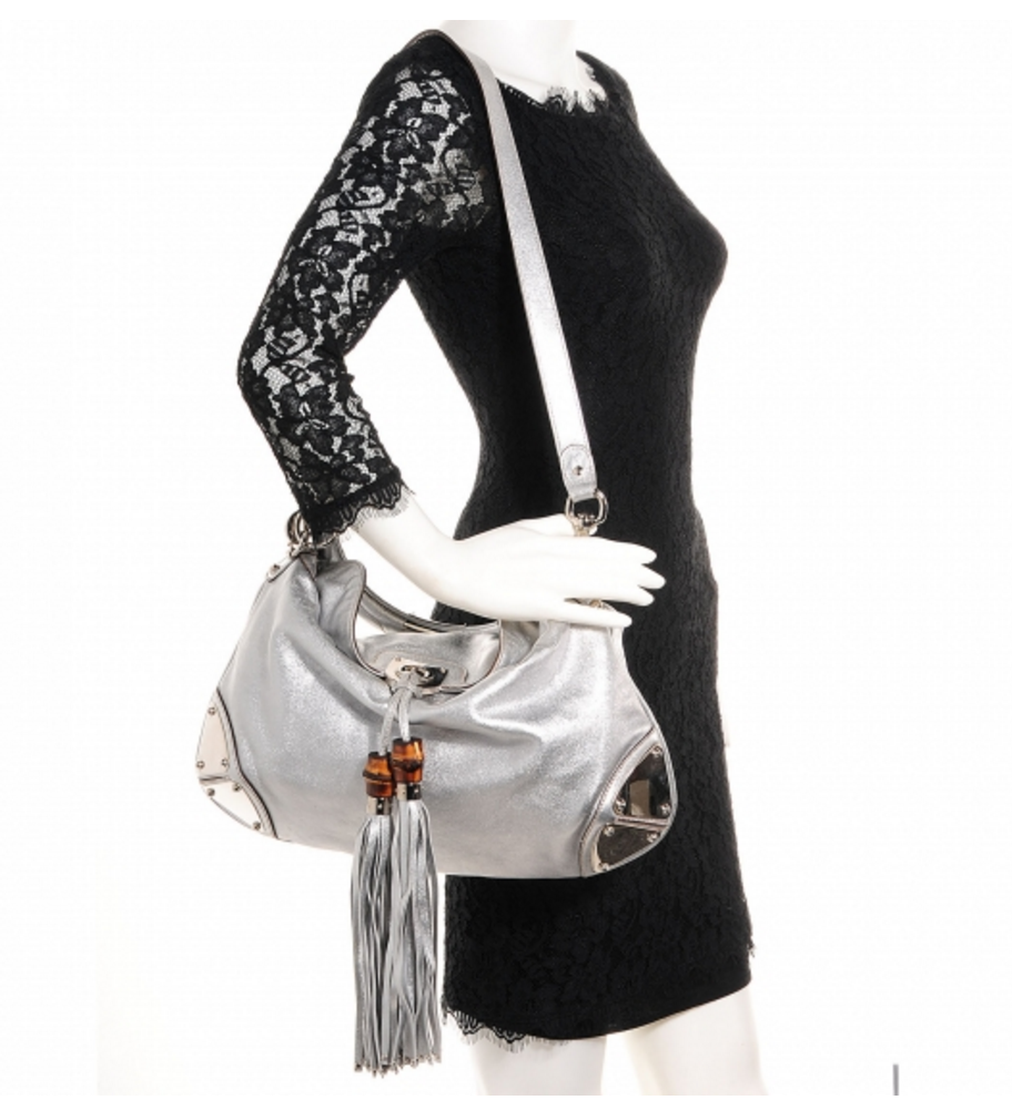 Gucci Silver Snakeskin Hobo Bag | Gently Used | - Secret Stash