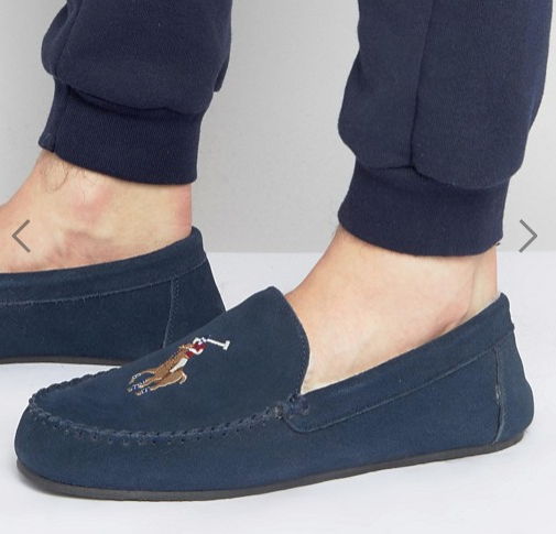 POLO Ralph Lauren Men's Markel Moccasin Sheepskin Slippers | Brand New |