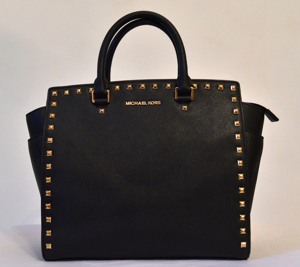 Michael Kors Large Selma with Gold Studs Bag | Gently Used | - Secret Stash