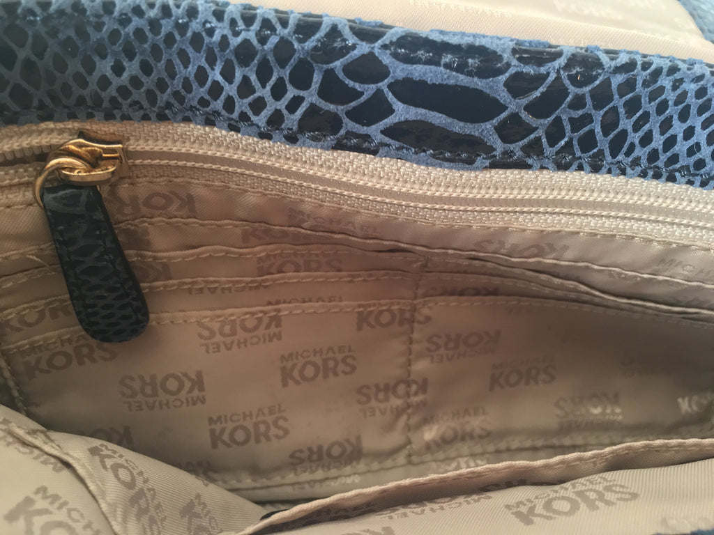 Michael Kors Snakeskin Leather Shoulder Bag   Gently Used     Secret ... 9c1da1f4a8