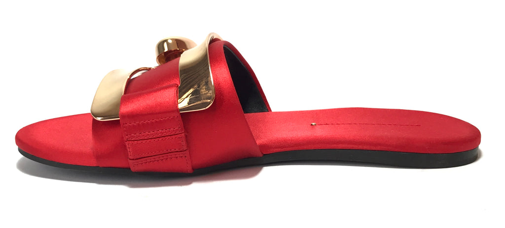 Stella Luna Red & Gold Satin Slides | Gently Used |