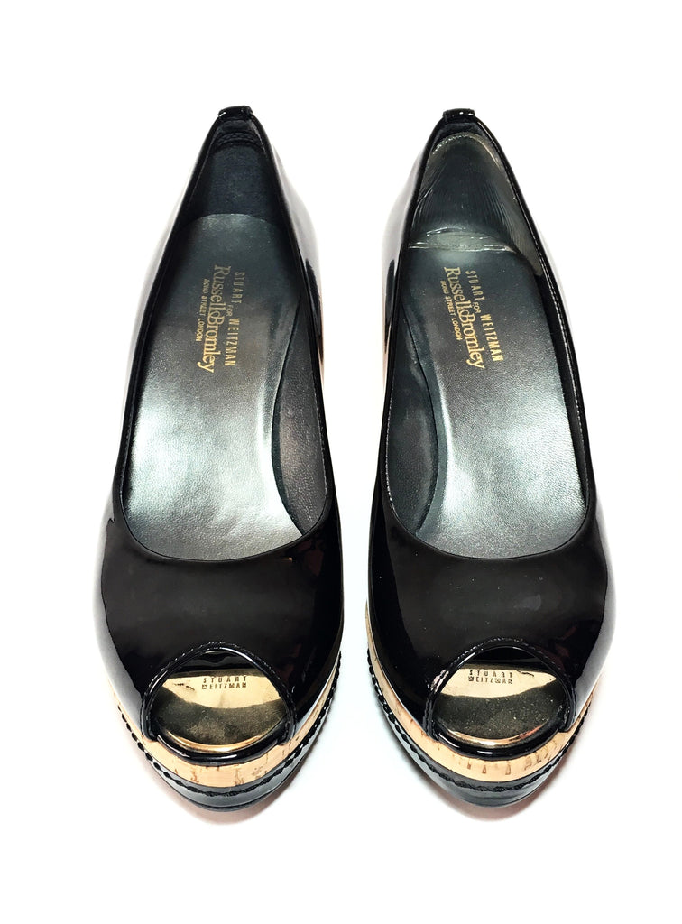 Stuart Weitzman for Russel & Bromley Peep-Toe Wedges | Like New |
