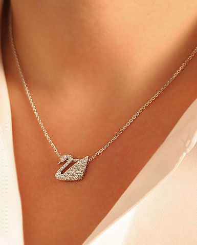 Swarovski Swan Necklace | Gently Used | - Secret Stash