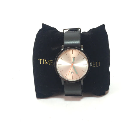 Ted Baker Unisex Black Leather Wrist Watch | Pre Loved |