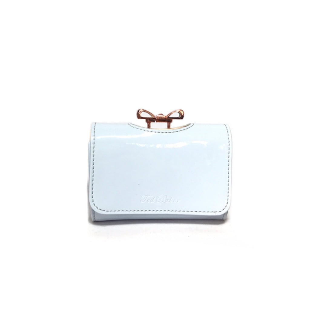 Ted Baker Powder Blue Bow Wallet | Like New |