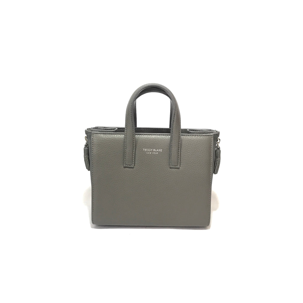 Teddy Blake Grey Pebbled Leather Small Tote | Gently Used |