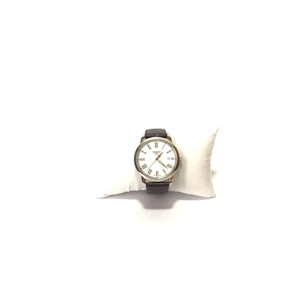 Tissot T033410A Men's Leather Wristwatch | Gently Used |