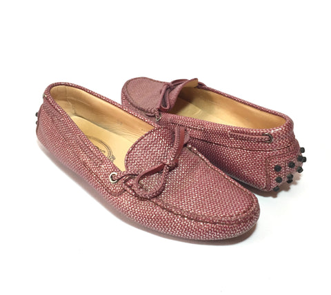 Tod's Pink Glitter Loafers | Gently Used |