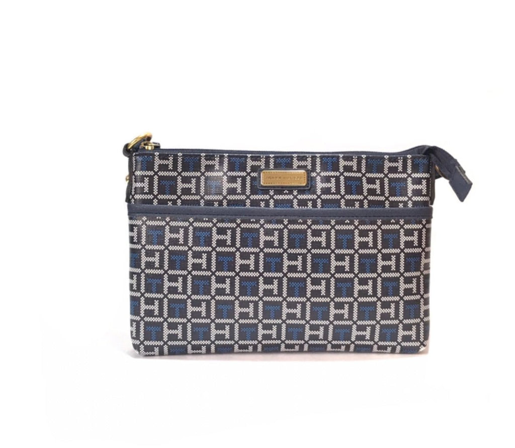 Tommy Hilfiger Monogram Canvas Crossbody | Brand New |