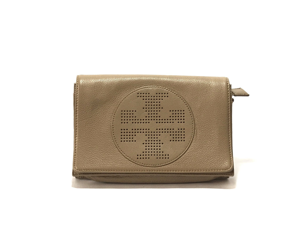 Tory Burch French Grey Cross Body Leather Bag | Like New |