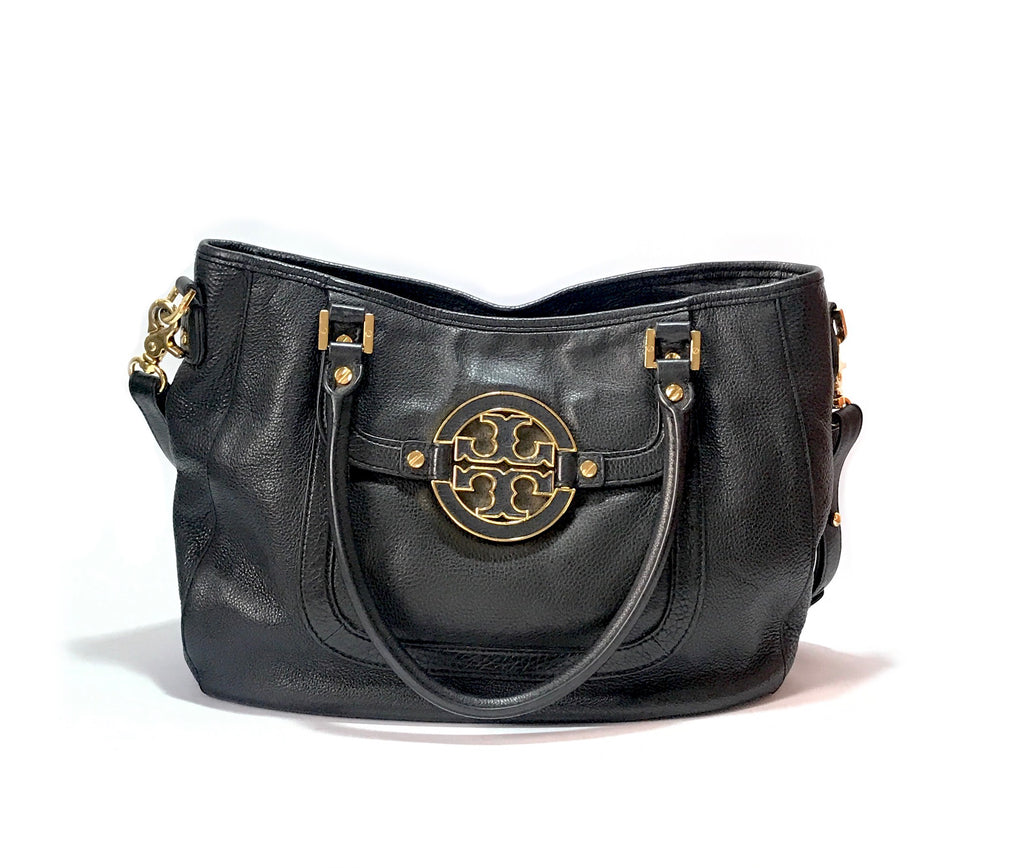 Tory Burch 'AMANDA' Black Leather Tote | Pre Loved |