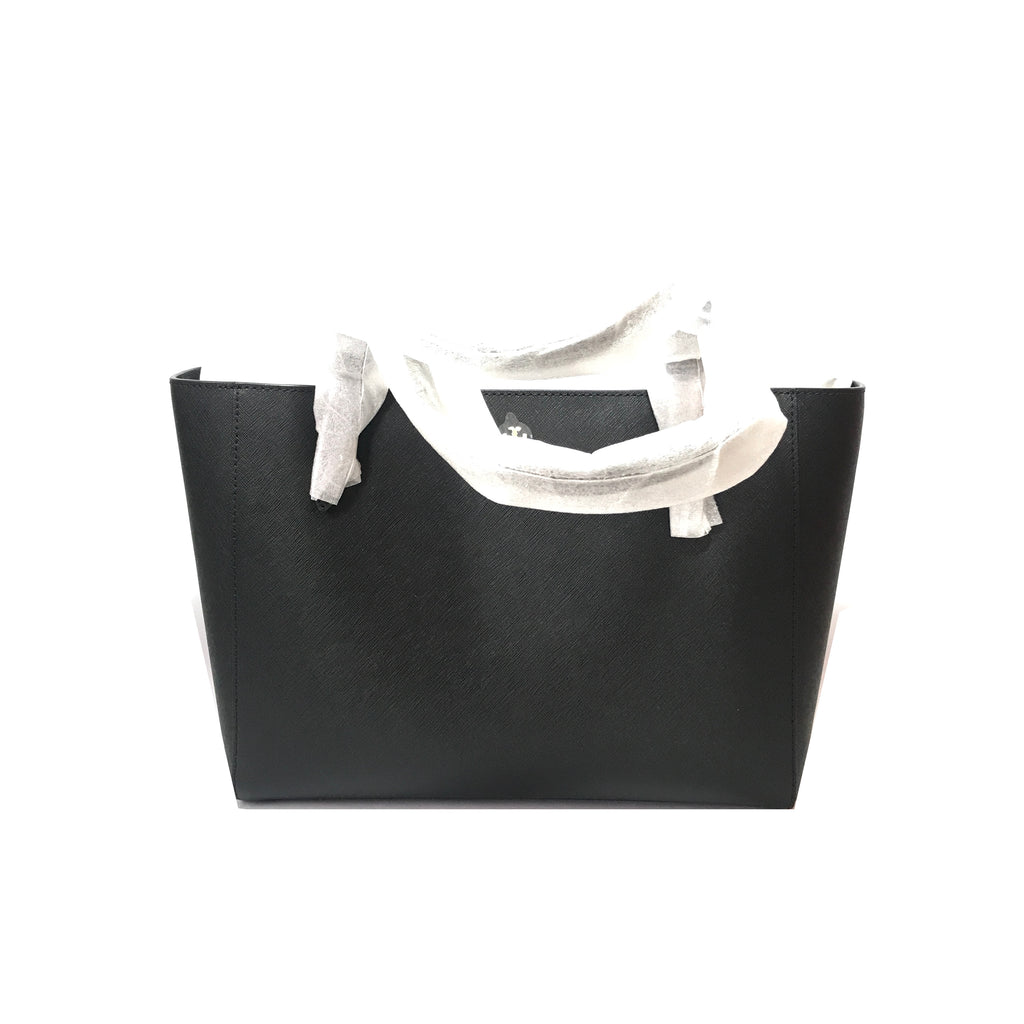 Tory Burch Black 'Emerson Buckle' Small Leather Tote | Brand New |