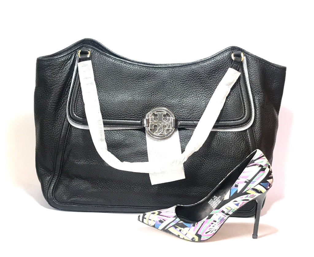 Tory Burch Black Leather 'AMANDA' Shoulder Bag | Brand New |