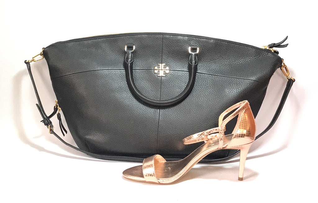 Tory Burch Black Pebbled Leather Bag | Like New |