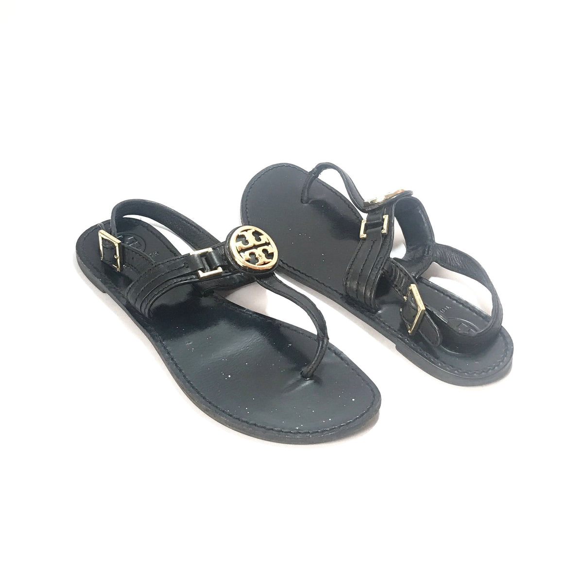 17b816840b4d Tory Burch Cassia Black Flat Thong Sandals