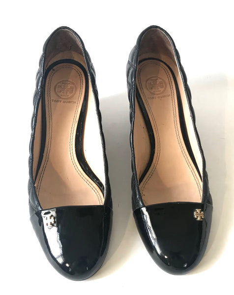 Tory Burch Quilted Wedge Pumps | Like New |